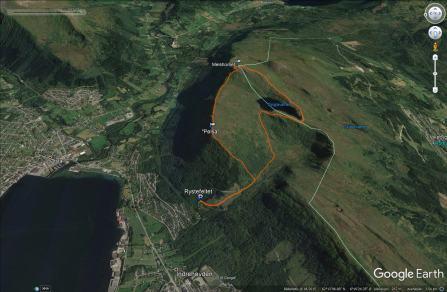 Our route across Melshornet