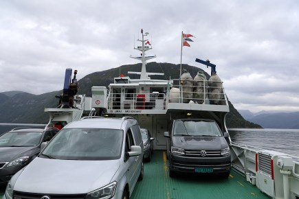 Onboard the ferry to Ortnevik