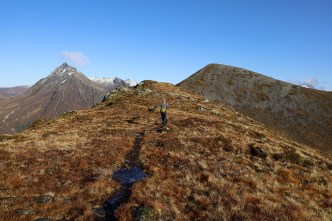 Approaching the top of Grøthornet