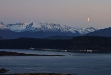 The Sunnmøre alps and the moon