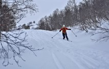 Anne shows some Telemark moves