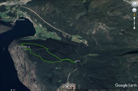 Our route across Amlaholten