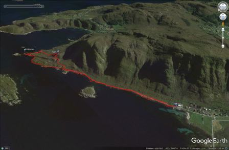 Our shore route