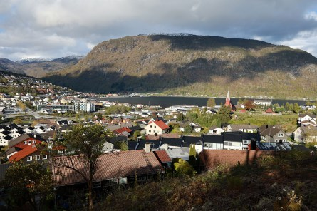 Sogndal seen from Anne's place