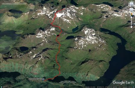 Our route to and from Møysalen