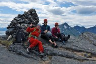 Anne, Atle and Signe on Hamarøyskaftet
