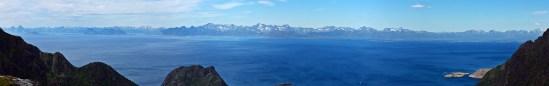Lofoten peaks - primarily Austvågøy peaks here. Vågakallen far left