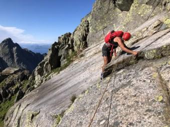 Inge on the slab rock pitch