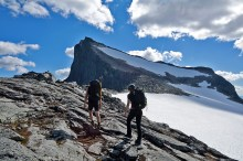 On the ridge with Falketind ahead