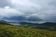 Rain showers across the fjord