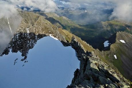 Still unknown terrain - with fresh snow