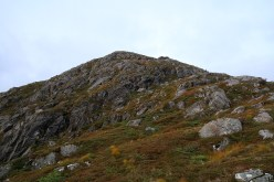 Looking up the southwest ridge
