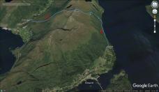 Our route across Blåtind