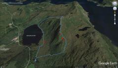 Our route across Vasshornet