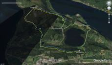 Why I prefer a handheld GPS. Blue track: my GPS, yellow: my phone
