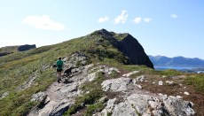 On the ridge to Ramntinden