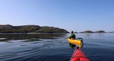 In Breidsundet, approaching Gjerdøy