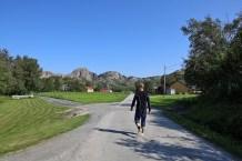 On foot on Gjerdøya