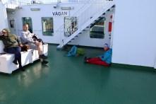 Good spirit on the ferry