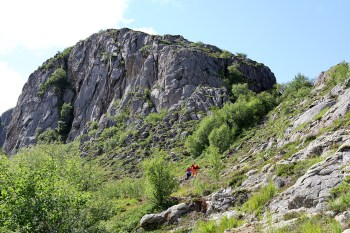 Looking back on Lislhatten, where we came down