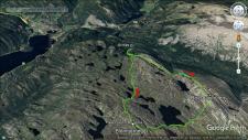 Our route across Røysdalsnuten and Blomtjønneggin