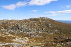 My descent route from Jøronnatten