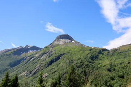 In my car, on my way up Gaularfjellet