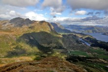 Peaks north of Dalsfjorden