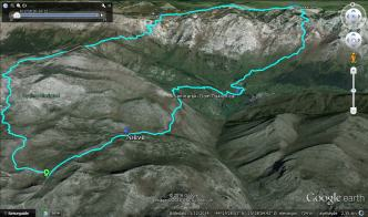 Our route, different angle