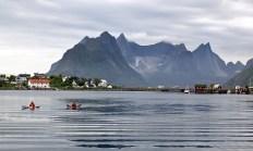 Kayakers in Reine