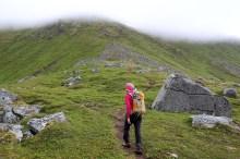 In Trolldalen, a steeper section ahead