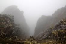 The fog adds drama