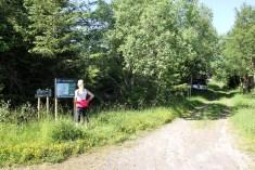 At the Hamnfjellet trailhead