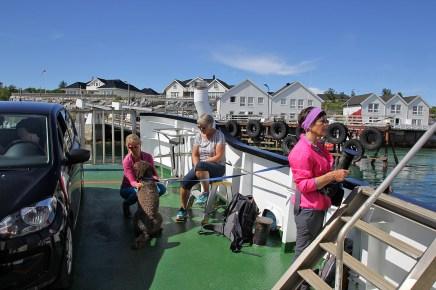 Onboard the fery