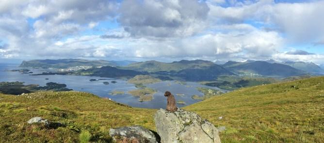 View from below Øyrahornet