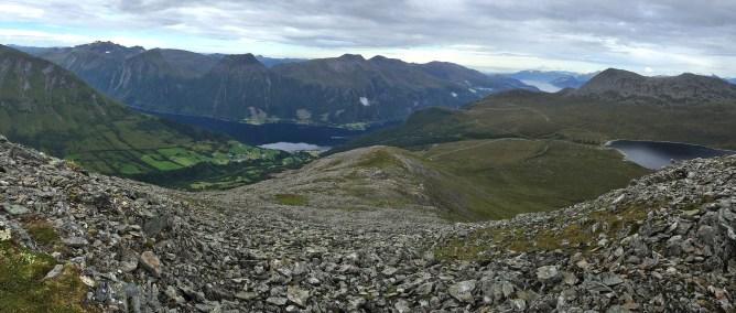View down the ridge