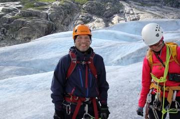War paint! A must on the glacier!