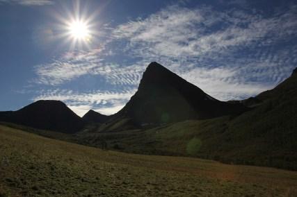 Trailhead view. Langhornet