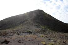 In the saddle below Morro del Cencerro