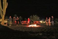Bonfire by the beach