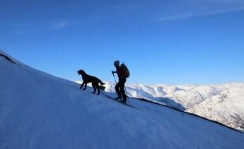 Anne and Karma on the ridge