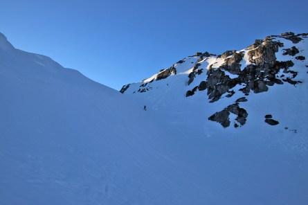Descending Dugurdskulen .- on ice!