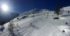 Towards the cabins @Bakkedalen