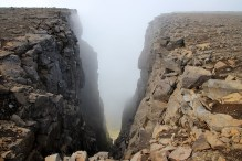 A steep gully