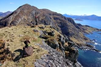 Anne, bagging the final island peak