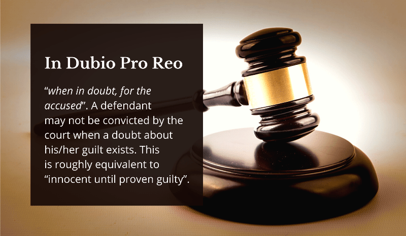 The Implementation of In Dubio Pro Reo Principle
