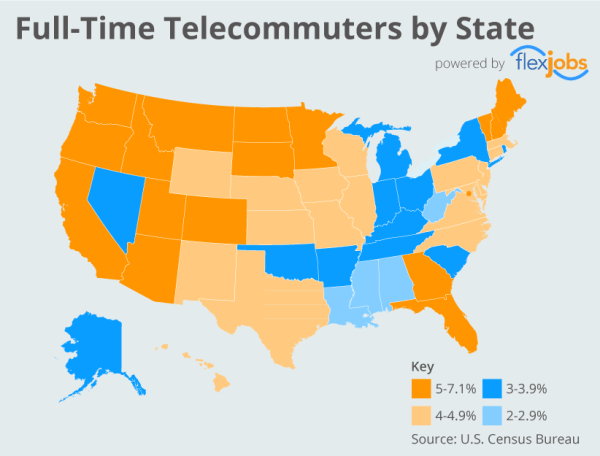 Infographic: Full-Time Telecommuters in All 50 States