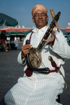 Rebab player in Djemma el-Fna