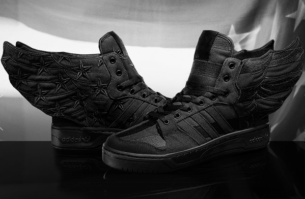 "promo code a5625 0f004 ... Long-time adidas collaborator Jeremy Scott and Harlem hip hop artist  A AP Rocky decided to get together and design the Jeremy Scott JS Wings 2.0  ""Black ..."