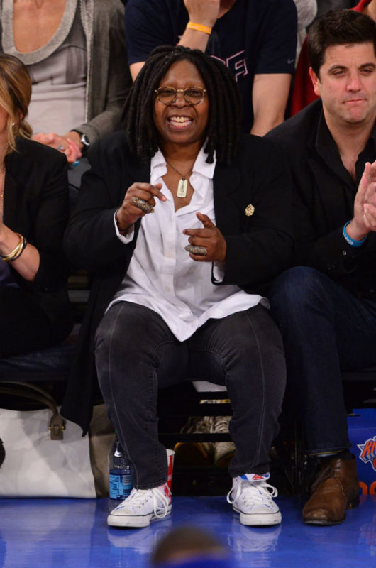 43cc147073c Whoopi s court side in a pair of Converse Chuck Taylor All-Star Superman  edition